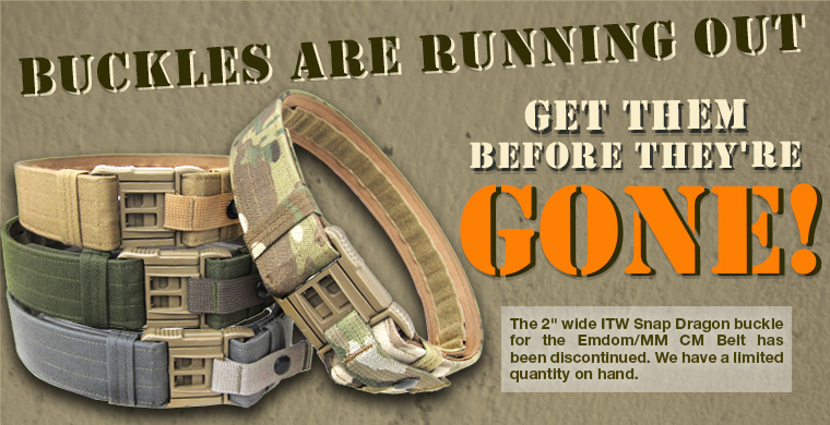 Buckles are running out. Get them before they're gone!