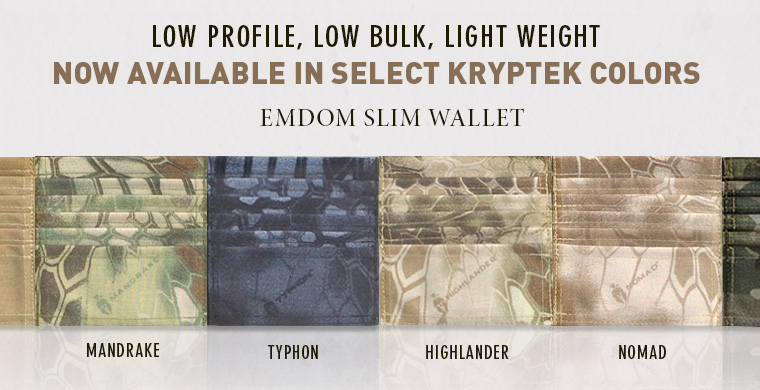 Emdom Slim Wallet - Now Available in Select Kryptek Colors