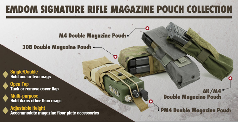 Emdom Signature Rifle Magazine Pouch Collection